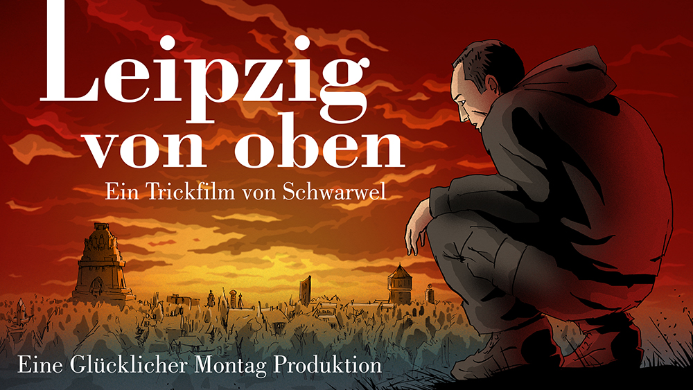 Leipzig von oben - Schwarwel