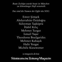 Die bekannten Opfer des NSU-Terrors. © sz-magazin.de/nsu