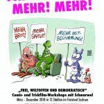 Das Plakat zum Projekt. © Schwarwel, Glücklicher Montag