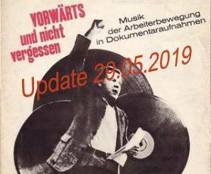 """Plattencover """"Musik der Arbeiterbewegung"""""""