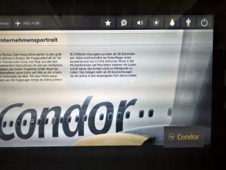 Condor Display mit Unternehmensseite