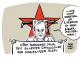 """""""Auseinandersetzungen in Silvesternacht am Connewitzer Kreuz befeuern Debatte über linksextreme Gewalt im Leipziger OB-Wahlkampf: Leipzigs OBM Jung fühlt sich durch November-Anschlag an RAF erinnert"""" www.schwarwel-karikatur.com #le3112 #connewitz #le0101 #schwarwel"""