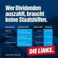 Dividende für Automanager © Die Linke