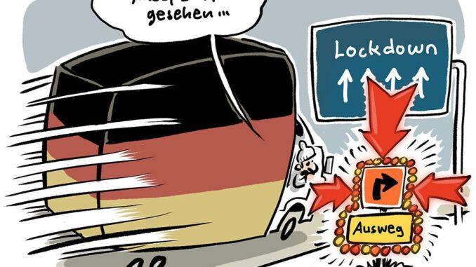 Zum Lockdown in der zweiten Corona-Welle © Schwarwel www.schwarwel.de