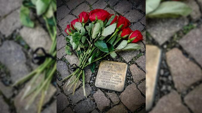 Der Stolperstein für Erich Köhn. 31.01.2021